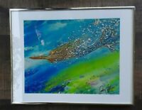 "JEN CALLAHAN ""RADA Mermaid"" Signed, Framed  Giclee Art Print, 11 x 14, Pre-owned"