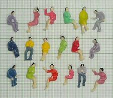 100 Stück H0 Figuren sitzend nur Sitzende. Ideal für Waggons als Reisende - E006