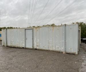 32ft 6 + 1 Male & Female Toilet Block Site Cabin Welfare Unit Wc Block Container