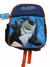 "Shark Tale Small Backpack 13"" x 10"" with Water Bottle"