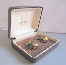 Luxury Men DUNHILL of London 925 Designer Cuff Links, In Box, Beautiful Set
