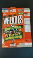 Wheaties Cereal Box Green Bay Packers 1997 Super Bowl XXXI Champions Vintage