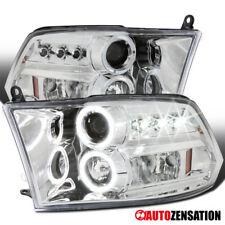 09-17 Dodge Ram Truck Chrome LED DRL Halo Projector Headlights