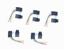 5set 80A 12V 5Pins DC AMP SPDT  Relays w/socket Car Starter Auto Relay Universal