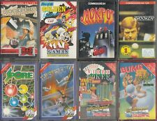 Commodore C64 Games Pack #19 8 Commodore C64/C128 Games Pack with Cases/Inlays