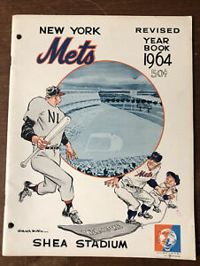 REVISED 1964 New York Mets Yearbook 48 Pages MLB Baseball Yearbook