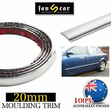 PVC Car Window Body Cover Adhesive Chrome Trim Moulding Adhesive Strip 20mm x 6M