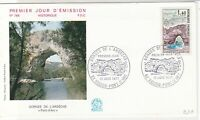 France 1971 Gorge of L'Ardeche Pic Slogan Cancels + Stamp FDC Cover Ref 31714