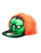 Street Fighter Blanka Furry Capcom Cap Baseball Kappe Mütze Snapback Orange Grün