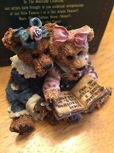 BOYDS BEAR Bailey & Becky The Diary Antique Primitive Doll Postcard Note RARE @