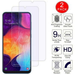 For Samsung A51 A71 A40 A50 A70 A7(2018) Tempered Glass Screen Protector Cover