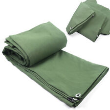 12x16 ft Olive Canvas Tarp 19.2 lbs Extra Heavy Duty Water Resistant Sunscreen