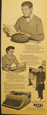 1953 Royal PortableTypewriters Home,Office,Business Football-Track-Gym Print AD