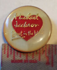 Vintage 70s Michael Jackson pin collectible button old music pinback memorabilia