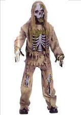 Kids Deluxe Walking Dead Zombie Halloween Fancy Dress Costume Age 8 - 11 P6403