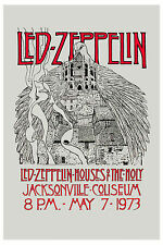 Robert Plant, Jimmy Page Led Zeppelin Houses Of Holy Florida Poster 1973 12x18