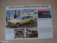 Toyota Celica Coupe 1600LT/ST + Liftback 1600ST, 2000ST/XT/GT, Prospekt, F,12.79