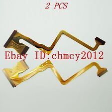2PCS LCD Flex Cable for JVC GZ-MS120 MS123 MS130 HM200 AC U Repair Part