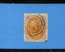 DANISH WEST INDIES 1874 7c. Lilac & Orange F-VF Used. Scott 9