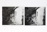 Casa Alla Campagna Francia Foto Stereo T2L3n Placca Da Lente Vintage
