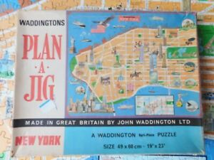 Vintage Waddingtons NEWYORK Plan A Jig Jigsaw Excellent Condition COMPLETE