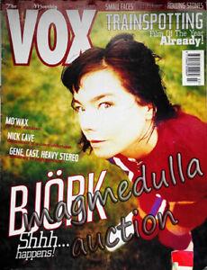 Björk cover VOX UK magazine mag 1996 / Nick Cave, Mo'Wax