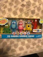YO GABBA GABBA Foofa Brobee Muno Plex Toodee Five 5 Figure Set Toy