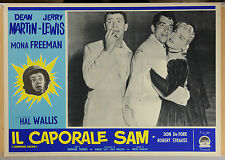 FOTOBUSTA 7, IL CAPORALE SAM Jumping Jacks JERRY LEWIS, COMICO, MOVIE POSTER