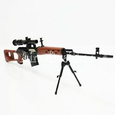 Army Force Non-Function Toy Figure Dummy Model Kit 1:6 Dragunov SVD Sniper Rifle