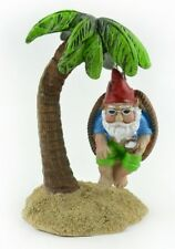 Gnome on Palm Tree Swing Mi 55854 Miniature Fairy Garden Dollhouse