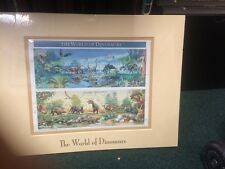 .32 Cent World Of Dinosaurs Sheet. Signed By The Designer.