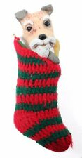 Scottish Terrier Dog in Red Stocking Christmas Ornament Holiday Decoration