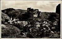 Pottenstein fränkische Schweiz s/w AK 1939  Gesamtansicht mit Blick auf die Burg