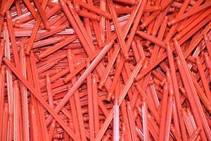 "200 KNEX RED RODS 5 1/8"" Long Pieces Bulk Standard Replacement Parts/Pieces Lot"