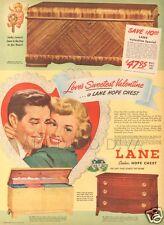 VTG LANE Cedar HOPE Chest SWEETHEART Valentine Heart ROMANCE Love Home House aD