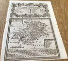 MONTGOMERYSHIRE OWEN BOWEN COUNTY MAP C1720 FROM BRITANNIA DEPICTA UNCOLOURED