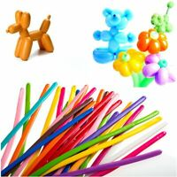 100 PARTY MODELLING BALLOONS MIXED COLOURS LATEX TRADITIONAL HIGH QUALITY PARTY