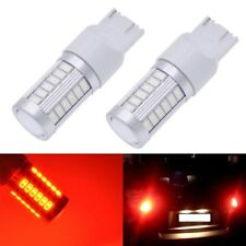 Red T20 W21/5W 7443 7440 5630 33-SMD LED Dome Map Car Backup Reverse Light Bulbs