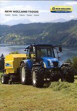 New Holland T5000 2011 catalogue brochure tracteur tractor tcheque czech