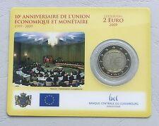 "2 Euro Luxemburg 2009 ""10 Jahre WWU"" st/bu in Coincard"