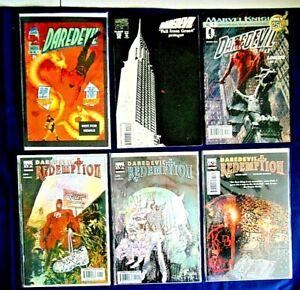 Marvel Daredevil Comic Book Lot Of 6 #355 319 421 Redemption 1,2,3 Of 6