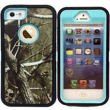 For iphone 5/SE/5S Case Cover Defender Military Hybrid Camo Tree Protective Clip