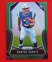 2019 Panini Prizm Damien Harris green refractor rookie New England Patriots