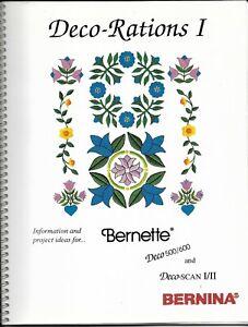 Original Bernina/Bernette Deco-Rations I & II for Deco 600 & Deco SCAN II - New