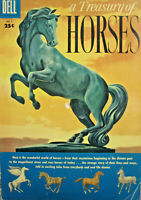 A Treasury of Horses Dell Comic 1955 Golden Age VG/FN-