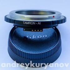 Tamron Adaptall-Nikon F Adapter with AF programmable chip-dandelion! Focus trap.