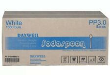Daxwell Medium Heavy Weight Soda Spoon, White, Recyclable Case 1,000
