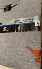 UT Longhorns Tee&Lounge Pant Combo STARTER 2pc Campus Gear Pack NWT Size L