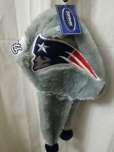 New England Patriot NFL Dangle Hat Santa Style Hat Hood with Balls
