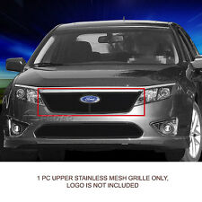 10-12 Ford Fusion Black Stainless Steel Mesh Grille Grill Upper Insert Fedar